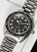 A RARE GENTLEMAN'S STAINLESS STEEL ISRAELI MILITARY OMEGA SEAMASTER 120 AUTOMATIC DIVERS BRACELET