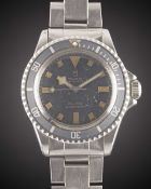 "A GENTLEMAN'S STAINLESS STEEL ROLEX TUDOR OYSTER PRINCE ""SNOWFLAKE"" SUBMARINER BRACELET WATCH CIRCA"