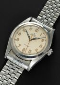"""A RARE GENTLEMAN'S LARGE SIZE STAINLESS STEEL ROLEX OYSTER PERPETUAL""""BUBBLE BACK"""" PRECISION"""