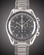 "A GENTLEMAN'S STAINLESS STEEL OMEGA SPEEDMASTER PROFESSIONAL ""PRE MOON"" CHRONOGRAPH BRACELET WATCH"