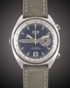 A GENTLEMAN'S STAINLESS STEEL HEUER CARRERA AUTOMATIC CHRONOGRAPH WRIST WATCH CIRCA 1970s, REF.