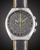 A GENTLEMAN'S STAINLESS STEEL OMEGA SPEEDMASTER PROFESSIONAL MARK II CHRONOGRAPH WRIST WATCH CIRCA