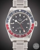A GENTLEMAN'S STAINLESS STEEL ROLEX TUDOR GMT SELF WINDING BRACELET WATCH DATED 2018, REF. 79830RB