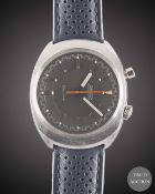 A GENTLEMAN'S STAINLESS STEEL OMEGA CHRONOSTOP DRIVERS WRIST WATCH CIRCA 1967, REF. 145.010 WITH