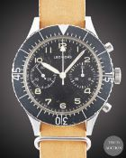 """A GENTLEMAN'S STAINLESS STEEL ITALIAN MILITARY """"ESERCITO ITALIANO"""" LEONIDAS CP-2 FLYBACK PILOTS"""