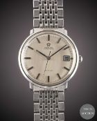 A GENTLEMAN'S STAINLESS STEEL OMEGA DE VILLE AUTOMATIC BRACELET WATCH CIRCA 1970, REF. 166033 WITH