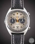 A GENTLEMAN'S STAINLESS STEEL HEUER CARRERA AUTOMATIC CHRONOGRAPH WRIST WATCH CIRCA 1970s, REF. 1153