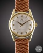 """A GENTLEMAN'S 18K SOLID GOLD OMEGA SEAMASTERWRIST WATCH CIRCA 1959, REF. 14700 SC WITH """"PENCIL"""""""