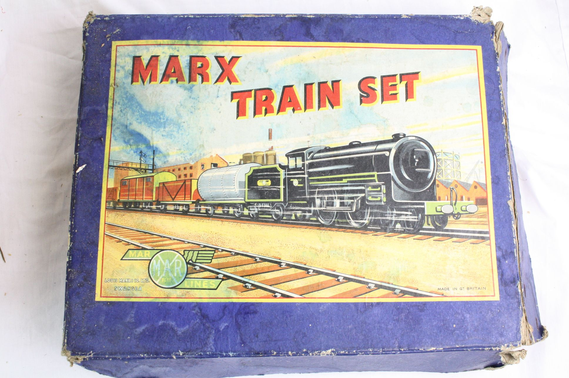 Lot 241 - Three boxed tin plate sets to include Marx Monte Carlo (one car), Marx Train Set with locomotive and