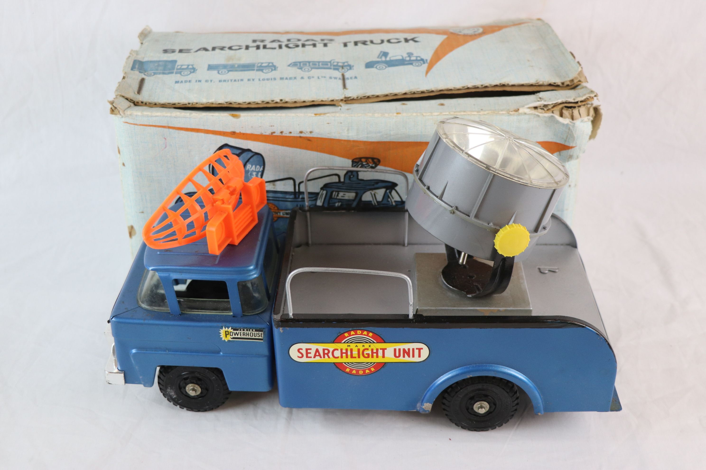 Lot 248 - Boxed Marx Radar Searchlight Truck, gd with some rusting, box fair