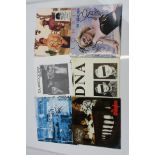 """Music Autographs - Six Punk 7"""" singles signed by artists and bands to include DNA, Iggy Pop 'The"""