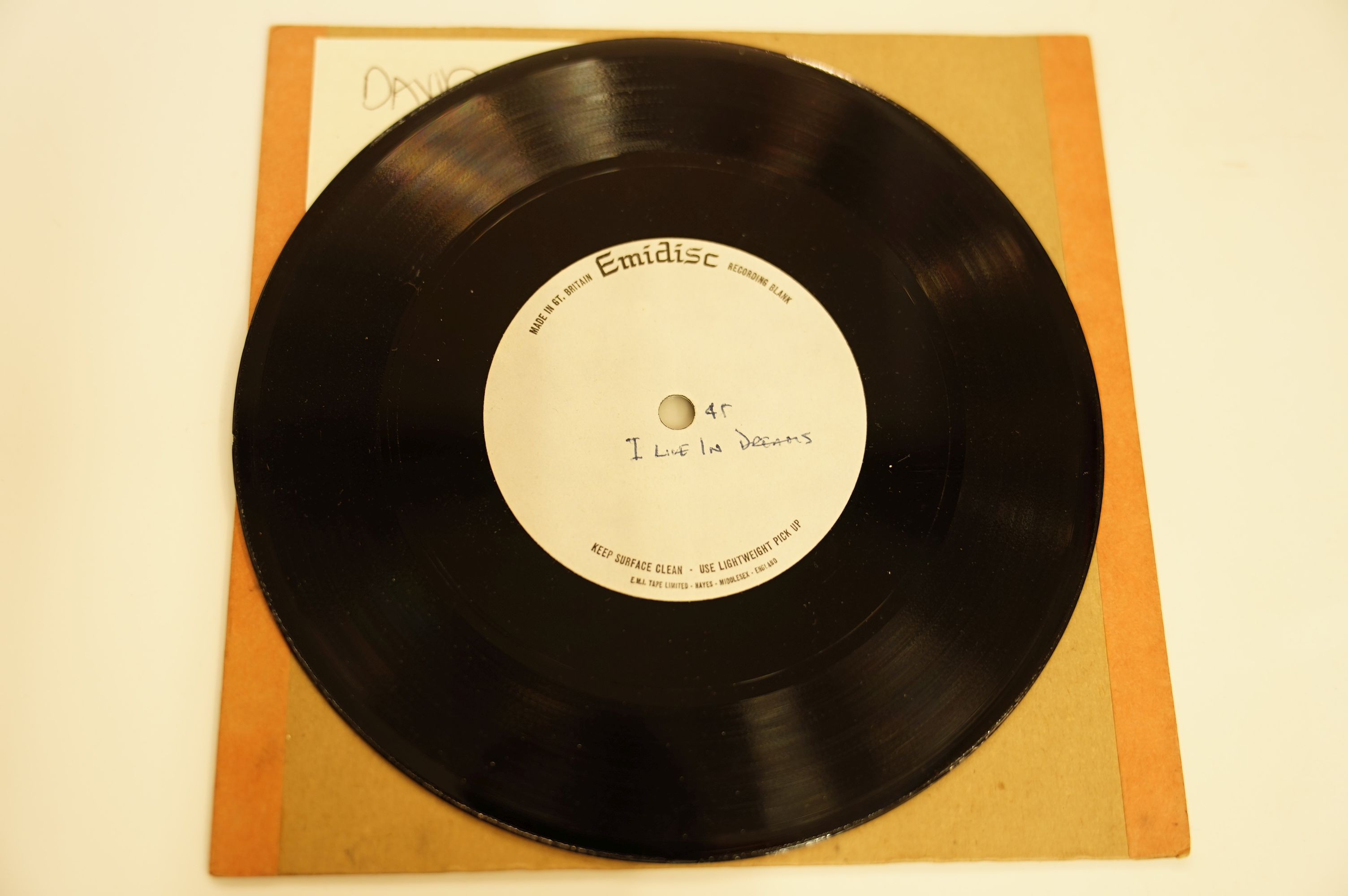 """Lot 5 - VINYL - DAVID BOWIE - """"I LIVE IN DREAMS"""" / """"I LIVE IN DREAMS (SECTION)"""""""
