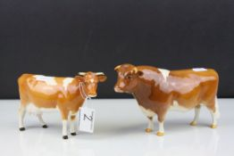 Beswick Guernsey Bull ' Ch. Sabrina's Sir Richmond 14th ' model no. 1451 together with a Beswick