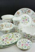 Box of Minton's China including Haddon Hall and Marlow