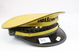 Lancaster Brand ' New York Yellow Taxi Cab ' Peak Cap, size 7 1/4