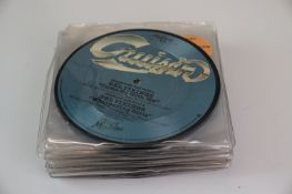 Vinyl - Collection of over twenty 7 inch picture discs including Culture Club, Elton John, Toyah,