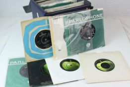 Vinyl - Approximately 40 The Beatles and related 45s, many with company sleeves, condition varies