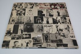 Vinyl - the Rolling Stones Exile on Main Street, no postcards, vinyl and sleeves vg