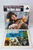 Vinyl - Two LP's from John Mayall to include The Blues Alone (ACL 1243 mono) and Crusade (LK 4890