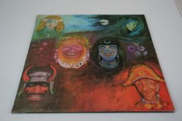 Vinyl - King Crimson In The Wake of Poseidon LP on Island ILPS 9127 laminated sleeve, pink 'i'