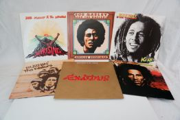 Vinyl - Small collection of 6 Bob Marley LPs to include Uprising, A Friction Herbsman, Natty