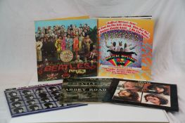Vinyl - Five The Beatles reissue LP's to include Let It Be, A Hard Days Night, Abbey Road, Sgt