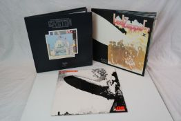 Vinyl - Three Led Zeppelin LPs to include I (K40031 orange green label), II (K40037 orange green
