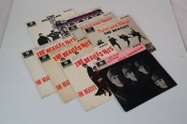 Vinyl - Eight The Beatles EPs / 45s with picture sleeves to include Long Tall Sally, Hard Days