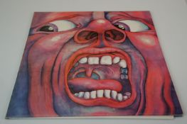Vinyl - King Crimson In The Court LP on Island ILPS 9111, pink 'i' logo label, vinyl vg+, sleeves
