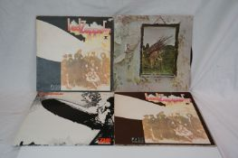Vinyl - Led Zeppelin collection of 4 LP's to include One (K 40031) later press, Two x 2 (K 40037 one