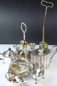 Silver Plate - Victorian and Later including a Four Egg Cup Stand, Scallop Shaped Bowl, Mappin and