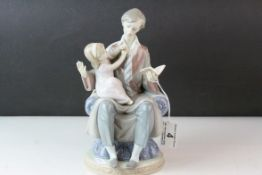 Lladro Figure Group ' Daddy's Girl ', model no. 5584, 24cms high