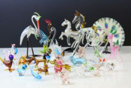 Collection of Miniature Glass Animals, approximately 30