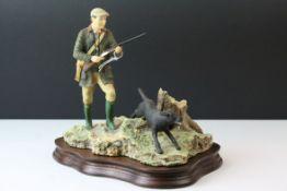 c1988 Border Fine Arts Gamekeeper with Black Labrador Figure