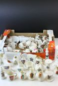 Approximately 50 plus Crested China to include W H Goss, Arcadian, Gemma, etc