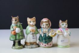 Four Beswick Beatrix Potter's Figures ' Simpkin ', ' Ginger ' , ' Ribby ' and ' Cousin Ribby '