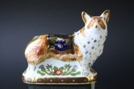 Royal Crown Derby ' The Royal Windsor Corgi ' Paperweight, limited edition of 950, with gold