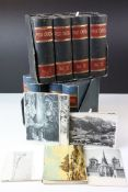 Two Sets of Early 20th century Postcard Boxes, both in the form of Four Books held on a Stand,