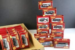 30 Boxed Airfix GMR OO gauge items of rolling stock featuring wagons and trucks