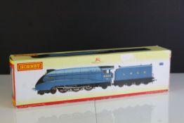 Boxed Hornby OO gauge R2339 LNER 4-6-2 Class A4 Mallard locomotive, tatty outer box