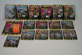 15 Carded Action Replay reels and one Action Replay player, composing of Batman Returns, 2 X James