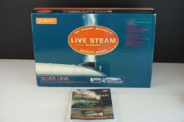 Boxed Hornby OO gauge Live Steam Silver Link LNER 4-6-2 Class A4 steam powered locomotive,