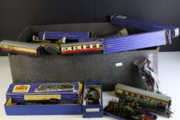 Quantity of Hornby Dublo model railway to include boxed LT25 LMR 8F 2-8-0 Locomotive and Tender,