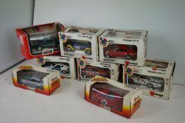 Seven boxed 1:24 scale Bburango diecast models to include Fiat Ritmo Abarth, Porsche 911 S, Datsun