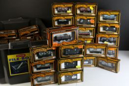 57 Boxed Palitoy Mainline items of rolling stock featuring trucks and wagons, vg