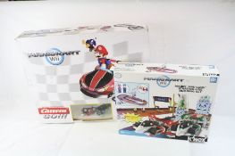 Boxed Carrera Go Nintendo Mario Kart 1:43 slot car racing set and boxed K'Nex Nintendo Mario Kart