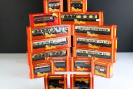 16 Boxed Hornby OO gauge items of rolling stock to include 2 x R122, 2 x R456, 2 x R457, R123, 3 x