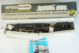 Boxed Wrenn OO gauge W2241 4-6-2 Duchess of Hamilton 4-6-2 with tender, with instructions