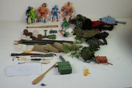 Four playworn Mattel Marvel Secret Wars action figures to include Captain America, Doctor Doom,