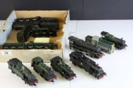 12 OO gauge locomotives to include Airfix 0-6-0 LMS with tender, Bachmann 0-6-2 GWR etc